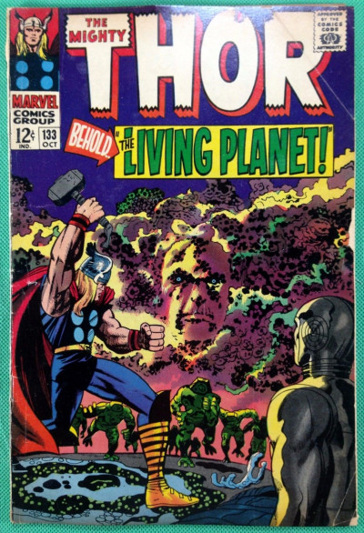 Thor (1966) #133 VG- (3.5) vs Ego the Living Planet 2nd app