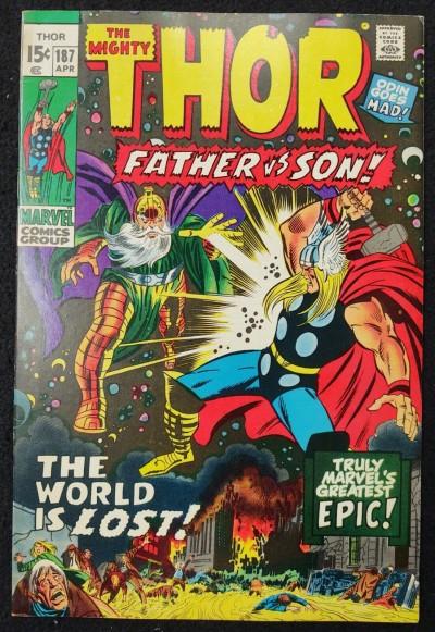 Thor (1966) #187 FN+ (6.5) Odin Battle Cover John Buscema