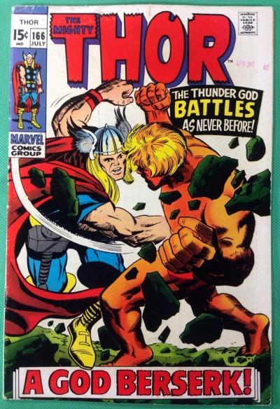 Thor (1966) #166 VG+ (4.5) 2nd app Warlock (Him)