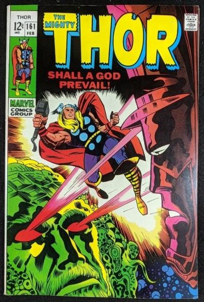Thor (1966) #161 VF (8.0) Galactus story part 2 of 3 vs Ego