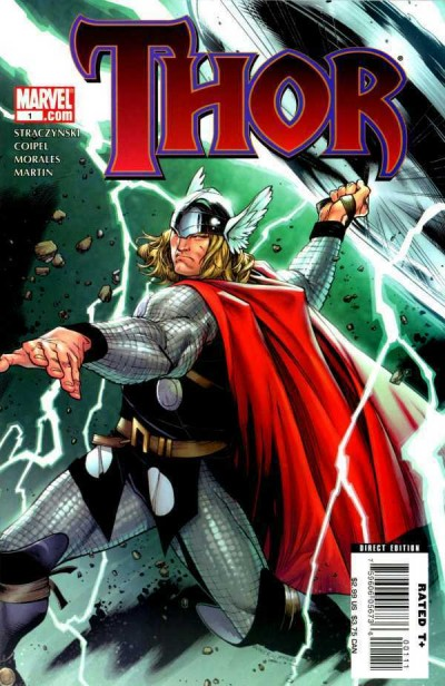 Thor (2007) #1 VF/NM Oliver Coipel 1st & 2nd Print Cover Set of 2 Books
