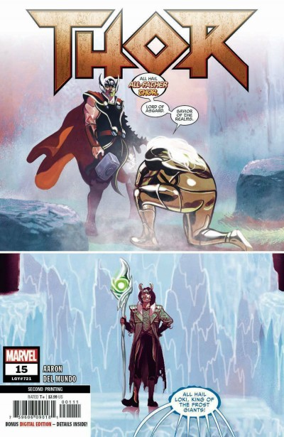 Thor (2018) #15 (#721) VF/NM 2nd Printing Variant Cover