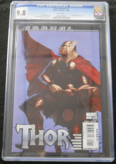 THOR ANNUAL (2009) #1 CGC GRADED 9.8 WHITE PAGES
