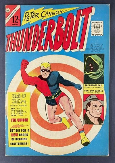 Thunderbolt (1966) #1 FN- (5.5) 1st App Peter Cannon & Tabu Charlton Comics