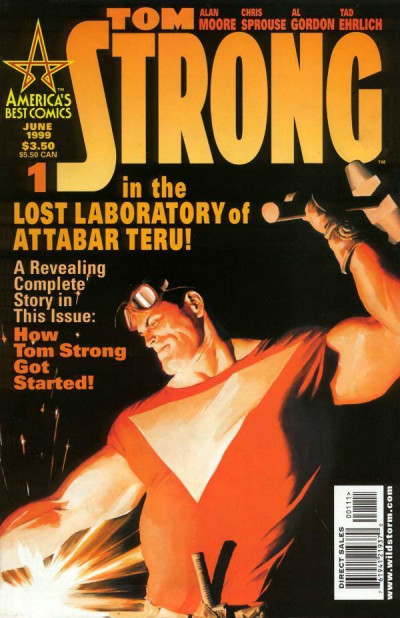TOM STRONG (1999) #1 VF/NM COVER A & COVER B LOT OF 2 BOOKS ALAN MOORE