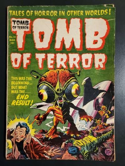 TOMB OF TERROR (1952) #14 LOW GRADE FAIR CLASSIC LEE ELIAS COVER PRE CODE |