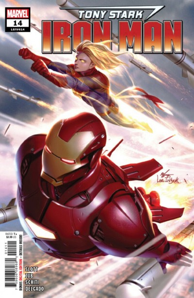 Tony Stark: Iron Man (2018) #14 VF/NM In-Hyuk Lee Cover Captain Marvel App