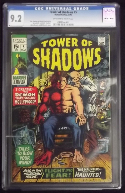 TOWER OF SHADOWS #5 CGC GRADED 9.2 MARIE SEVERIN BILL EVERTT OFF-WHITE TO WHITE