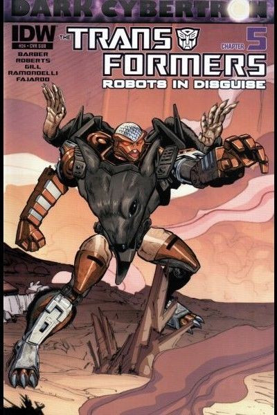 TRANSFORMERS: ROBOTS IN DISGUISE #24 VF/NM IDW SUBSCRIPTION VARIANT COVER