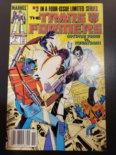 Transformers #2 (1984) VF/NM (9.0) Newsstand UPC 2nd app Optimus Prime |