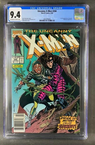Uncanny X-Men (1981) #266 CGC 9.4 1st Full Appearance of Gambit (3824796003)