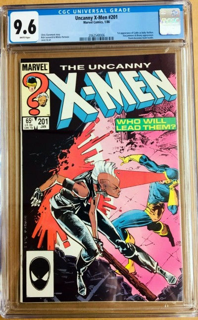 Uncanny X-Men (1963) #201 CGC 9.6 1st app Cable as a baby (2062548006)