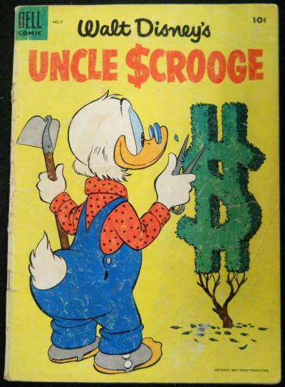 UNCLE SCROOGE #'s 9 & 10 WALT DISNEY DELL COMICS 1955 EARLY LOT
