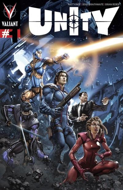 UNITY (2014) #1 VF+ - VF/NM PULLBOX VARIANT COVER F VALIANT COMICS