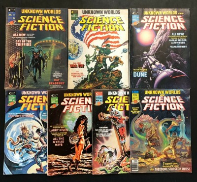 Unknown Worlds of Science Fiction (1975) # 1 2 3 4 5 6 + Annual #1 complete set