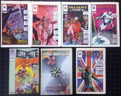 Valiant Voice #2 3 5 6 7 + Comic Shop New spotlight on &  Deathmate preview