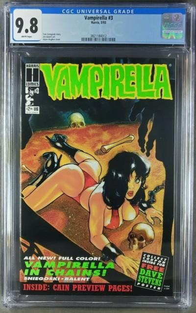 Vampirella #3 (1993 Harris) CGC 9.8 WP ADAM HUGHES BONDAGE COVER 3821184012 
