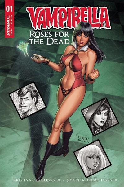 Vampirella: Roses For the Dead (2018) #1 VF/NM Linsner Cover Dynamite