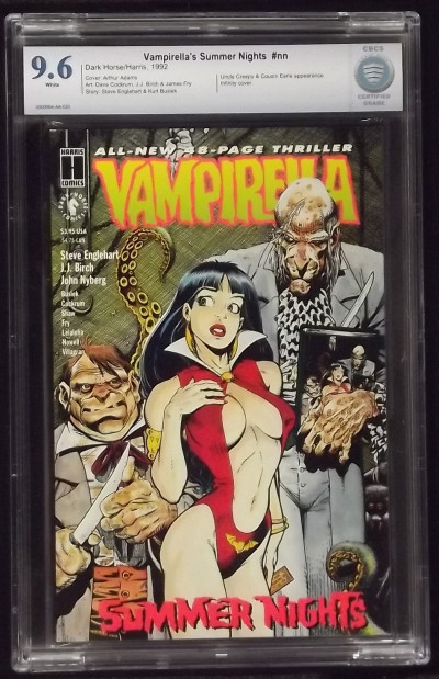 VAMPIRELLA'S SUMMER NIGHT CBCS 9.6 SEXY ARTHUR ADAMS COVER HARRIS NOT CGC