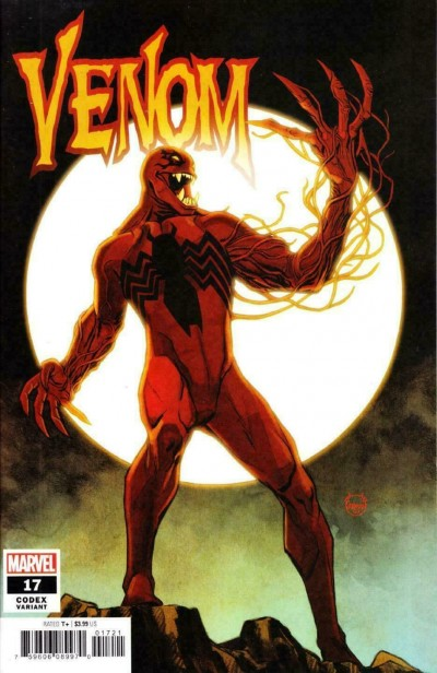 Venom (2018) #17 (#182) VF+ Dave Johnson Codex 1:25 Variant Cover