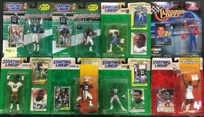 Vintage Starting Line Up Lot of 33 figures MOC Baseball Hockey Football
