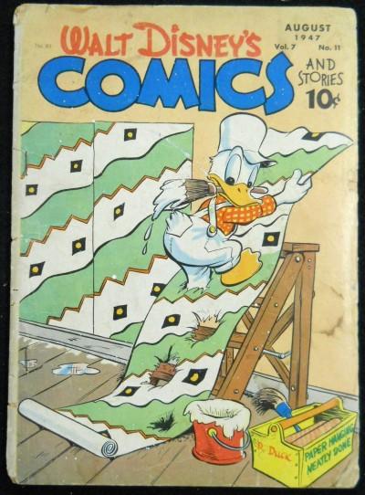 WALT DISNEY'S COMICS & STORIES #'s 83, 114, 117 CARL BARKS DONALD DUCK