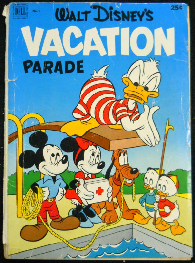 WALT DISNEY'S VACATION PARADE #'s 3, 4, 5 LOT OF 3 DONALD MICKEY GOOFY 1953
