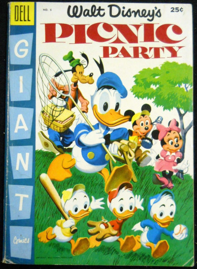 WALT DISNEY'S VACATION PARADE #'s 6, 7, 8 LOT OF 3 BARKS DONALD MICKEY 1954