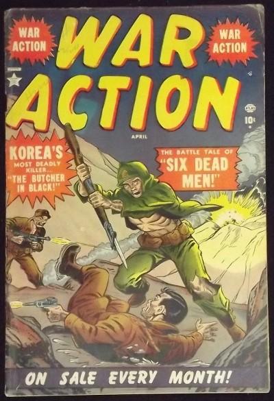 WAR ACTION #1 VG 1952 PRE-CODE ATLAS