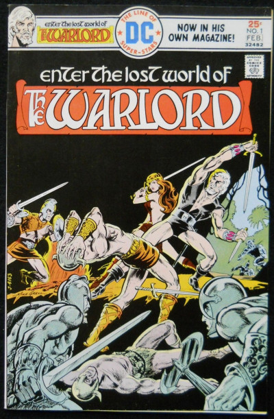 WARLORD #1 VF- MIKE GRELL 1976