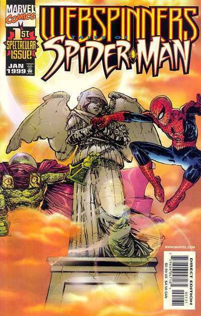 WEBSPINNERS: TALES OF SPIDER-MAN (1999) #1 VF/NM - NM SUNBURST VARIANT COVER