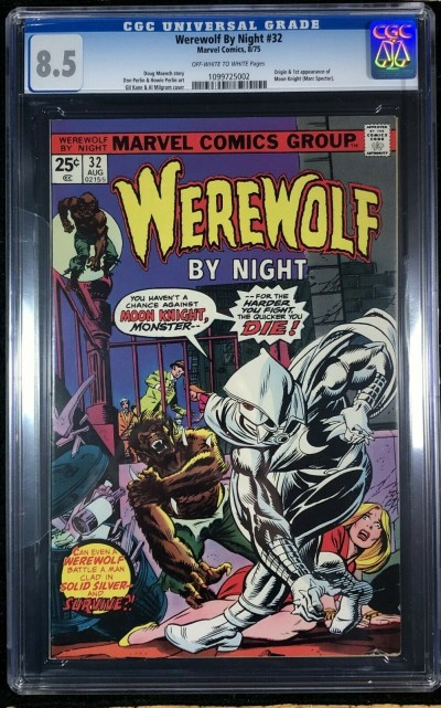 Werewolf by Night (1972) #32 CGC 8.5 1st app Moon Knight (1099725002)