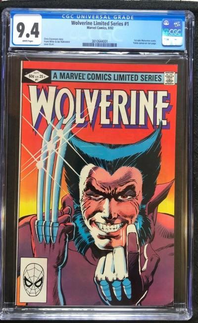 Wolverine Limited Series (1982) #1 CGC 9.4 Frank Miller (3810644001)