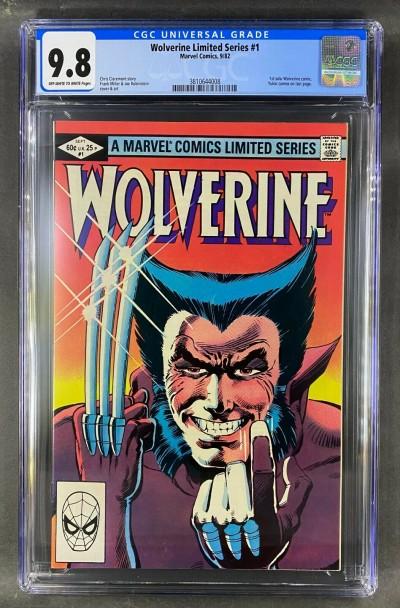 Wolverine Limited Series (1982) #1 CGC Graded 9.8 Mr Frank Miller (3810644020)