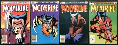 Wolverine Limited Series (1982) #1 2 3 4 VF(8.0) complete set Frank Miller art