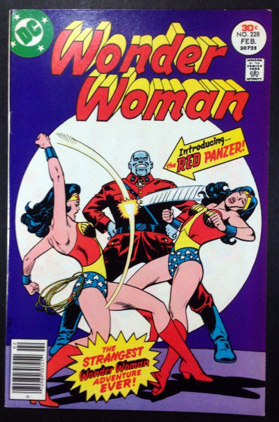 WONDER WOMAN (1942) #228 VF- (7.5)  Red Panzer new World War ll story pt 1 of 16