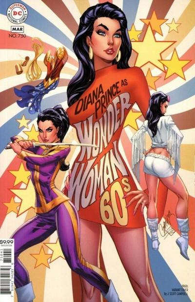 Wonder Woman (1942) #750 NM or better 1960's J. Scott Campbell Variant Cover