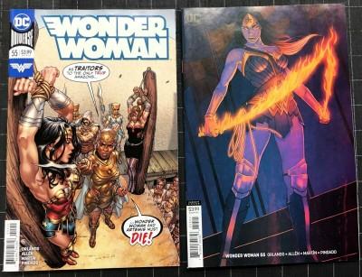 Wonder Woman (2016) #55 NM- (9.2) regular & variant cover set