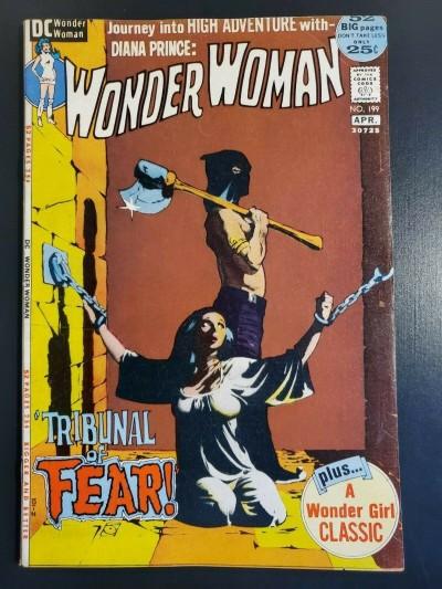 WONDER WOMAN #199 (1972) F+ (6.5) CLASSIC JEFF JONES BONDAGE COVER |