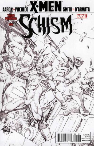 X-MEN: SCHISM (2011) #1 OF 5 VF+ - VF/NM 3RD PRINTING SKETCH COVER