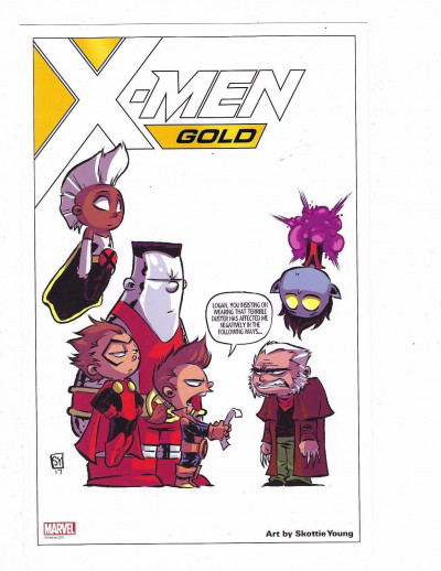 X-men Gold (2017) Skottie Young X-Babies Lithograph Storm Old Man Logan Colossus