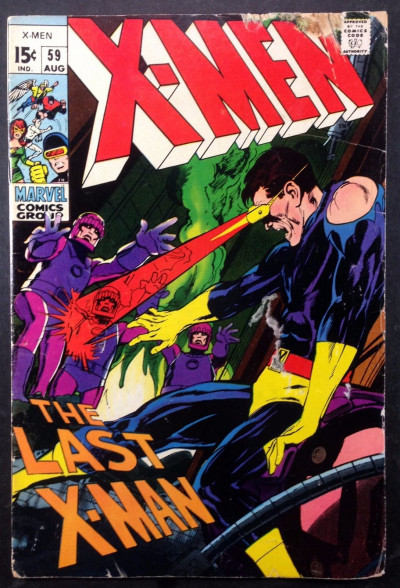 X-MEN (1963) #59 FR/GD (1.5) vs Sentinels Neal Adams cover and art