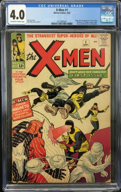 X-Men (1963) #1 CGC 4.0 OW to W pages 1st app X-Men & Magneto (2015095001)