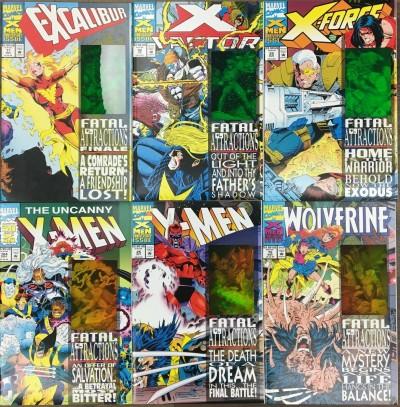 X-Men Fatal Attractions (1993) complete 6 part set NM (9.4) Wolverine #75