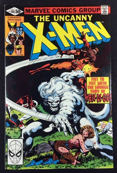 X-Men (1963) #140 NM- (9.2) guest starring Alpha Flight versus Wendigo