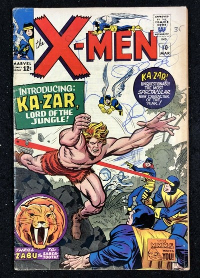 X-Men (1963) #10 GD (2.0) 1st app Ka-Zar & Sabu in the Silver Age