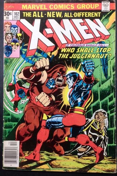 X-men (1963) #102 VG+ (4.5) Colossus vs Juggernaut