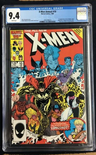 X-Men Annual (1986) #10 CGC 9.4 1st app X-Babies Longshot joins (2062548014)