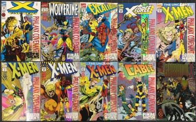 X-Men Phalanx Covenant (1994) NM (9.4) complete set 1st app Blink + Gen X #1