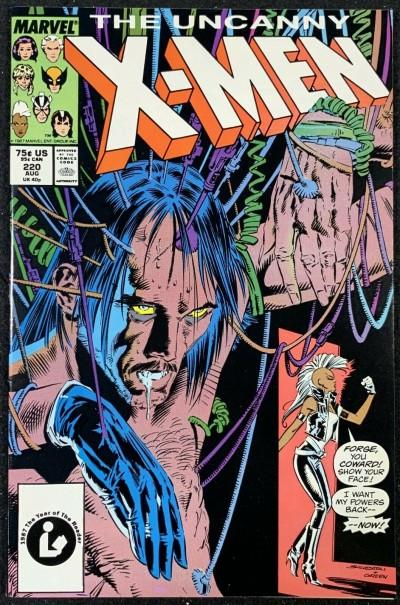 X-Men (1963) #220 NM (9.4) Mark Silvestri cover & art